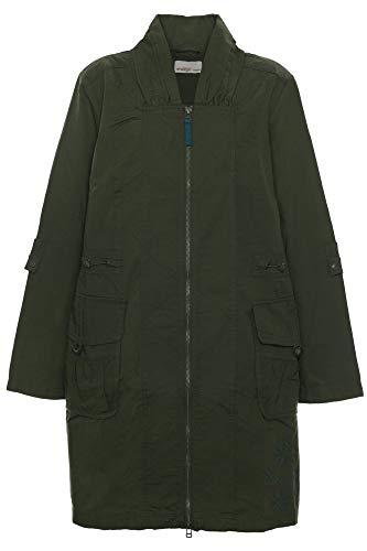 Sheego Outdoorjacke Parka Jacke Mantel Anorak Übergangsjacke Damen Plusgröße, Damengrößen:48, Farbe:Khaki