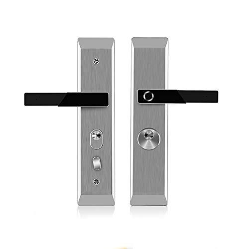JALAL Elektronische biometrische Fingerprint schlüssellose Türschloss Fingerabdruckerkennung Mechanischer Schlüssel Digitale Diebstahlsicherung Smart Lever für Schlafzimmer Apartment Office