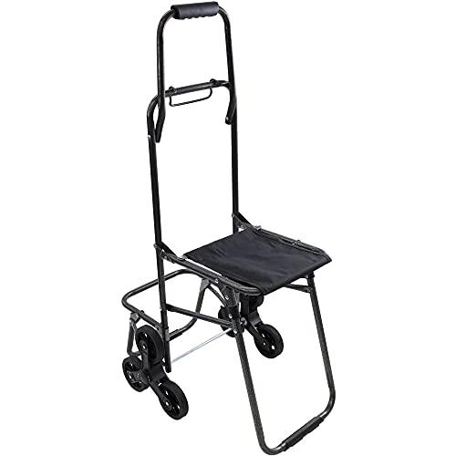 wellz 買い物カート 軽量 折りたたみ チェア 椅子にもなる 座れる 階段も上がれる 運搬 昇降 運動会 登山 買い物キャリー バンド付き