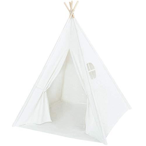 XUZg-wFence XZGang Tipi Indio Blanco con Base de Tela, DIY Decorativo Tienda del Juego Entre Padres e Hijos excursión al Aire Libre fotografía apoya la Infancia Espacio Infantil