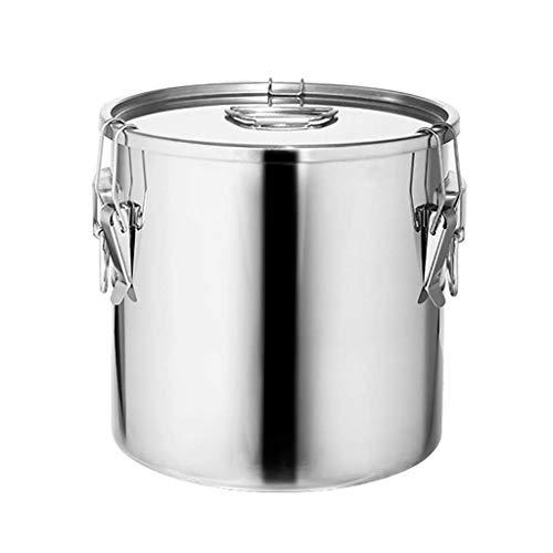 NBVCX Home Accesorios Olla de acero inoxidable con tapa Olla profunda Cater Cater Stew Sopa Hirviendo Pan (engrosado sellado Snap) 25 * 25 cm