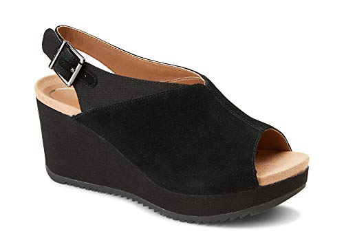 Womens Toe-Post Platform Wedge Sandal Ladies Wedge with Concealed Orthotic Arch Support