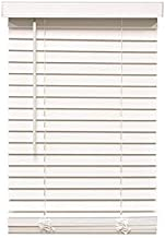 Designer's Touch 3588804 Cut-to-Width White Cordless 2 in. Faux Wood Blind - 70 in. W x 60 in. L