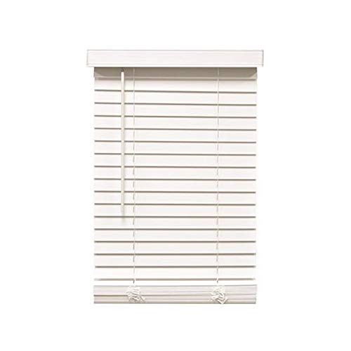 Designer's Touch 3588780 Cut-to-Width White Cordless 2 in. Faux Wood Blind - 27 in. W x 72 in. L