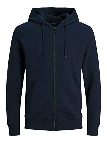 Jack & Jones JJEBASIC Sweat Zip Hood Noos Cardigan Jersey, Navy Blazer, L para Hombre