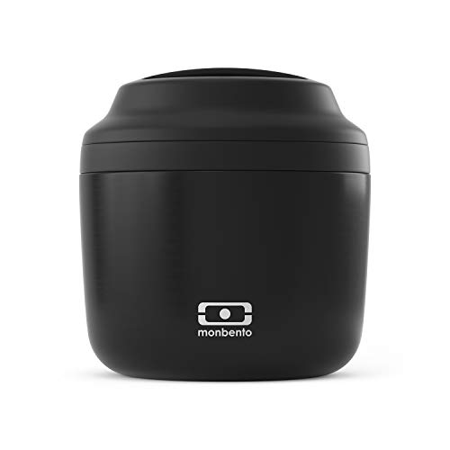 MB Element noir Onyx - Lunch box isotherme - Maintient votre repas au chaud et au frais jusqu'à 10h