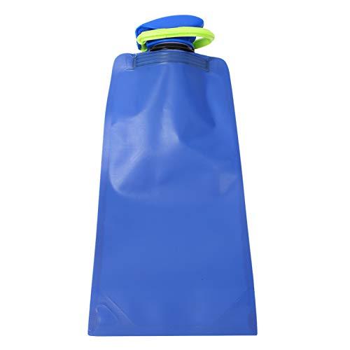 Crisis Botella de Agua Plegable ecológica de 650 ml, Bolsa de Agua Botella de Agua Plegable Plegable, para Ciclismo, Camping, Deporte, Senderismo