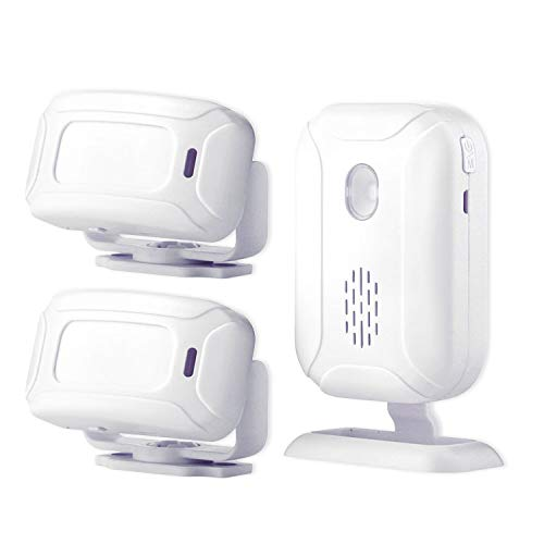 Wireless PIR Motion Sensor Detector Security Alarm Chime,Shop Store Office Home Front Door Entry Welcome Doorbell,Mailbox Alert, Garage Driveway Alarm,with Night Light