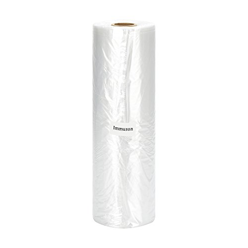 Immuson 12' X 20' Plastic Produce Bag on a Roll Food Storage Clear Bags For Fruits Vegetable Bread (350 Bags-1 Roll)