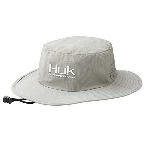 Huk Men's Boonie Hat   Wide Brim Fishing Hat With UPF 30+ Sun Protection , Grey, 1