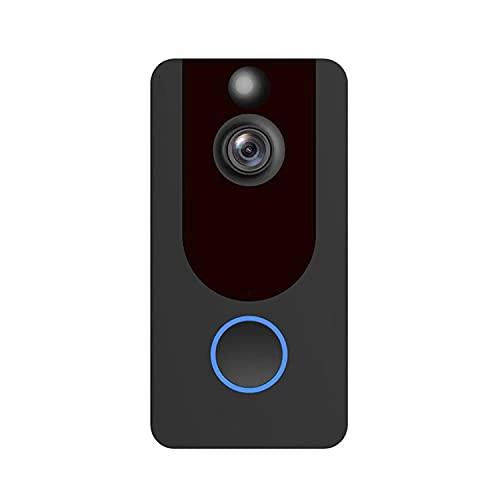 YUTAO Timbre Inalámbrico WiFi Inteligente Visual 1080P, Timbre con Sensor De Videoportero De Visión Nocturna, 2 Canales De Audio, Detección De Movimiento, Soporte De Almacenamiento Local/En La Nube
