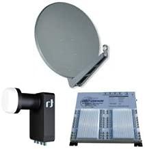 Gibertini se 100cm alu Sat antena + Inverto Black Ultra Quattro LNB + EMP Centauri E. Lite Class Multiswitch MS5/40eeu de 14