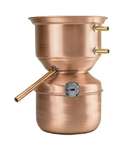 La Ramera Distillatore Alambicco da 3 Litri a Fungo per Grappa, Whisky, Brandy, ECC.
