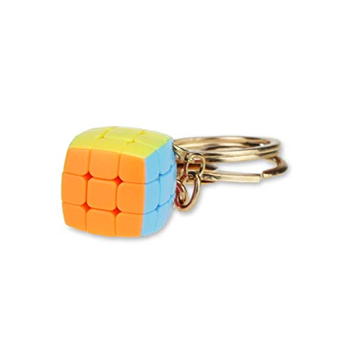 shuxun Rubik'S Cube3Llavero De Tercer Orden Mini Pan Llavero Regalo De Juguete para Principiantes