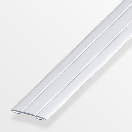Übergangsprofil flach/selbstklebend; 37mm/200cm Alu eloxiert silber
