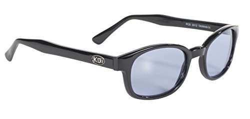 Pacific Coast Original KD's Biker Sunglasses (Black Frame/Blue Lens)
