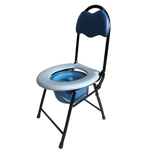 Sedia da Toilette Sedile WC Portatile Comodino Sgabello della Toilette Disabile delle Donne Incinte Anziane Sedia da Bagno Pieghevole