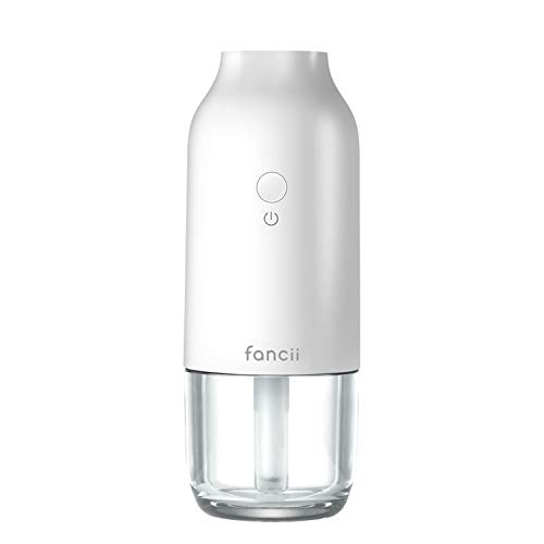 Fancii UltraMist Personal Desktop Humidifier - Small Portable Cool Mist Ultrasonic Humidifier with Built-in Water Tank for Office Desk, Bedroom, Car, and Travel