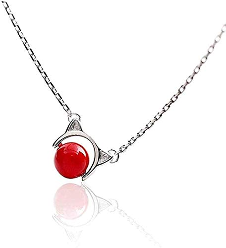 ZPPYMXGZ Co.,ltd Necklace Silver Pendant Necklace for Women Fashion Jewelry Comes with Gift Box Holiday Or Birthday Present for Women and Girls-Cute Cat Ears
