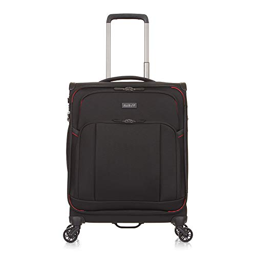 Antler Atmosphere, Durable & Lightweight Soft Shell Suitcase - Colour: Black, Size: Cabin