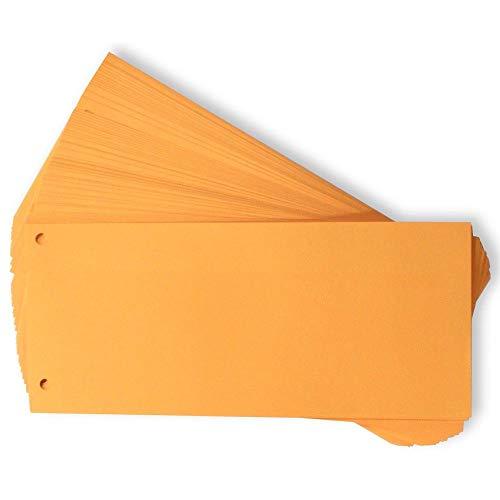 Oxford Trennstreifen, 400153514 Karton, farbig, orange, 100 Stück
