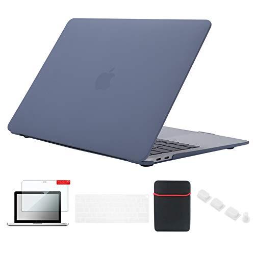 Se7enline - Carcasa rígida para MacBook Air de 13 pulgadas con Touch ID modelo A1932/A2179 con funda para teclado, protector de pantalla, tapón antipolvo