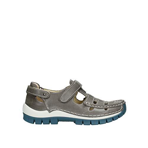 Wolky Comfort Riemchenschuhe Move - 35260 grau/blau Leder - 38