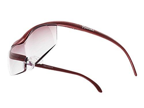 Hazuki 眼鏡式ルーペ 赤 ブルーライト対応 カラーレンズルーペ 1.6倍 大きなレンズ ハズキルーペ ラージ