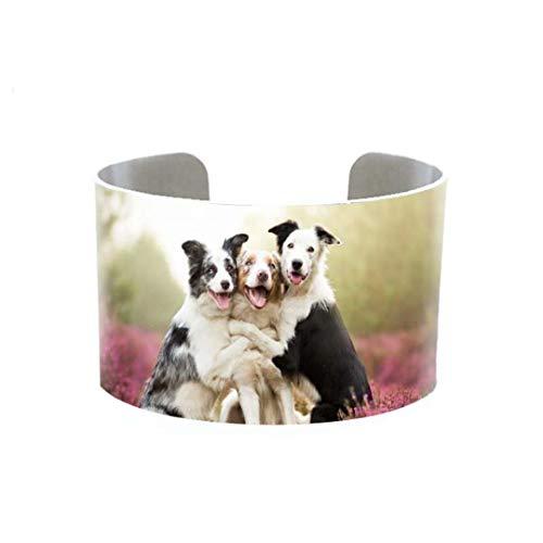 Fashion Cute Dogs Cuff Beautiful Lovely Animals Bracelet Art Bangle Fashion Ladies Jewelry Bracelets Bangles For Women 1