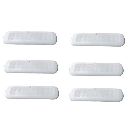 Petyoung 6 Piezas Bandejas de Hielo Reutilizable Esfera Bola de Hielo Fabricante Fácil de Liberar Goteo de Agua Hockey sobre Hielo Adecuado para Fiestas Restaurantes
