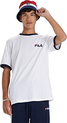 Fila Herren Rosco T-Shirt, Weiß, L