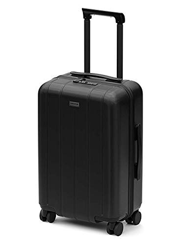 CHESTER Minima Carry-On Luggage / 22'x19'x14' Lightweight Polycarbonate Hardshell/Spinner Suitcase/TSA Approved Cabin Size (Onyx (Black), Carry-On Luggage)