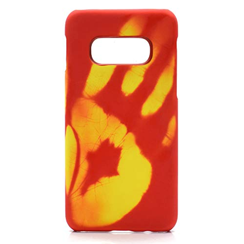 Omio for Samsung Galaxy S10 Thermal Sensor Case Heat Induction Fluorescent Temperature Sensing Creative Back Cover Case Color Changing Ultra Thin Anti-Scratch Non-Slip Protective Case for Galaxy S10