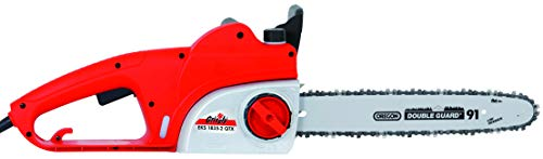 Grizzly Elektro Kettensäge EKS 18 QTX, Motorsäge 1800 Watt, 42 cm Schwertlänge, Oregon Kette und Schwert, automatische Kettenschmierung, Metallgetriebe, inkl. Kettenöl