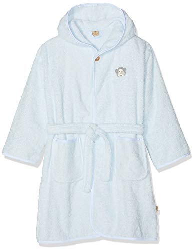 Bellybutton mother nature & me Jungen Bademantel, Blau (Baby Blue|Blue 3023), 122/128