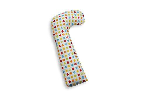 Ideenreich 2220 Coussin de positionnement en forme de L pour bébé, 65 x 20 cm, Confettis