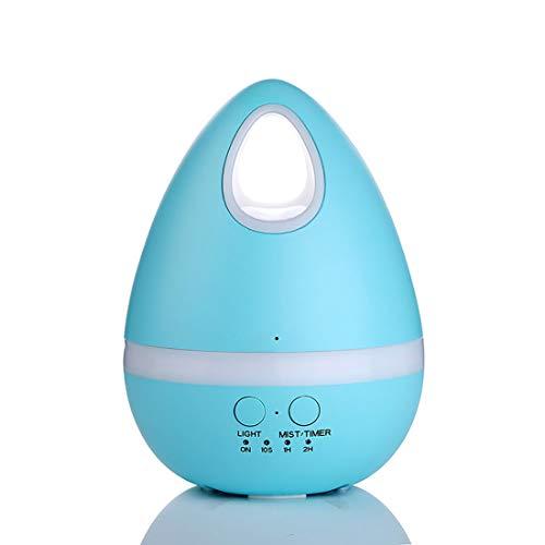 Xuyan Mini-luchtbevochtiger, coole luchtbevochtiger, USB, ultrasone opladen met nachtlampje, automatische uitschakeling zonder water, verbetert de slaap, blauw