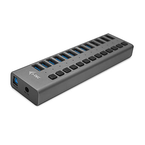 i-tec USB 3.0 Charging HUB 13 Port Power Adapter 60 W - laders voor mobiele telefoons (binnen, netstof, grijs)