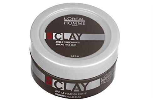 L'Oréal Professionnel Paris Homme Clay, Paste für starke Fixierung, mit intensivem Matt-Effekt, für maximale Kontrolle, 50 ml