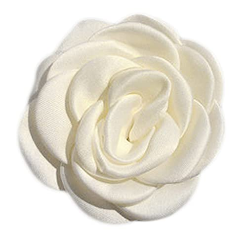 YOURPAI Pasador para mujer, color blanco leche, clip de pelo floral artificial Camellia rosa flor cocodrilo horquilla Camellia