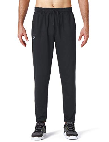 NAVISKIN Men's Athletic Running Pants Workout Training Pants Zip Pockets