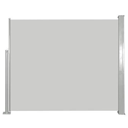 vidaXL Auvent Latéral Rétractable 120x300 cm Blanc Cassé Brise-Vue Store Abri