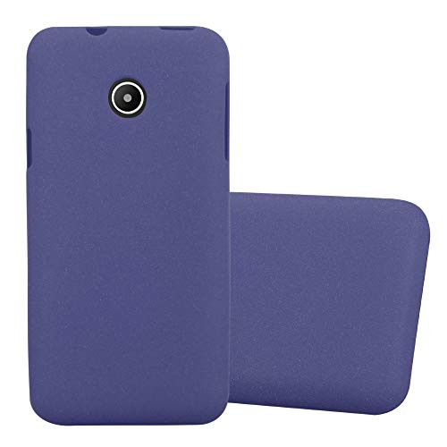 Cadorabo Hülle für Huawei Y330 in Frost DUNKEL BLAU – Handyhülle aus flexiblem TPU Silikon – Silikonhülle Schutzhülle Ultra Slim Soft Back Cover Case Bumper