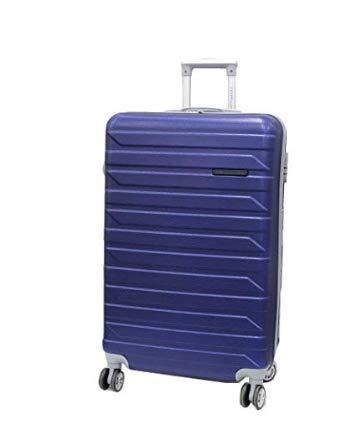 VICTOR LINE SRL Trolley COVERI Collection 55x39x20 4 Ruote AntiGraffio Impermeabile Adatto Come Bagaglio A Mano per Tutti compagnie aeree (Blu)