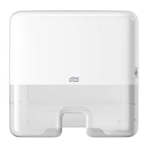 Tork 552100 Dispensador de Toallas de Mano entreplegadas / despachador de Papel secamanos de Tork Compatible con el Sistema H2, 29,5x30,2x10,1, Blanco