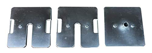 UNIHEAVY2pcs, UNIPOLE1pc, Canopy Weight and Stand Outdoor Steal Base Plate 6.6lbs.