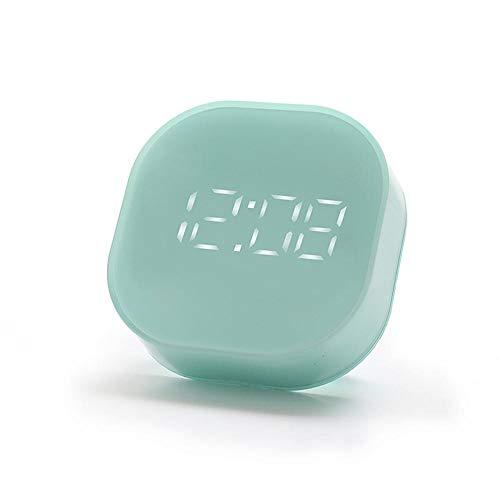 FPRW 3 kleuren elektronisch vierkant stille kop wekker digitale LED temperatuursensor bureauklok magnetische decoratie huis groen