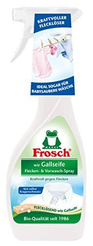 Frosch wie Gallseife Flecken und Vorwaschspray, Fleckenentferner für Weißes, Buntes und Feines, entfernt Fett, Öl, Blut, Eiweiß, 500 ml