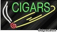 """ Cigars "" Neon Sign w /グラフィック、背景素材=クリアPlexiglass"
