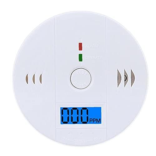 fregthf Rilevatore di monossido di Carbonio AA AA Batteria Allarme antincendio con Display Digitale (Nessuna Batteria)
